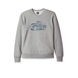 Life is good go to Crewneck Sweater dog truck Sm